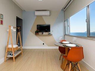 Apartamento Pet Friendly con Vista para la Playa de Copacabana CaviRio NSC1006