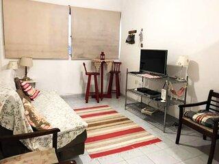 Apartamento a beira-mar com Wi-Fi em Santos/SP