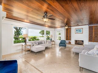 Private, Quiet Kailua Beach Front home with heated pool; Sleeps up to 12.