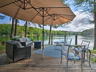 NEW! Tranquil Lake Cottage w/ Hot Tub, Near Golf!