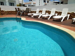 Villa Maritima, en Corralejo con Piscina Privada y Wifi