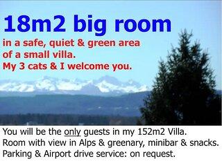 Zurich Airport Homestay Room 18m2, free parking