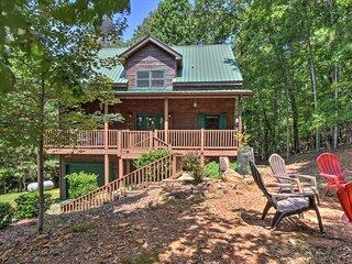 Coosawattee River Resort Home Mins from Blue Ridge