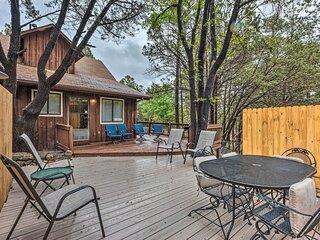 NEW! Rustic Ruidoso Cabin w/ Large Deck & Grill!
