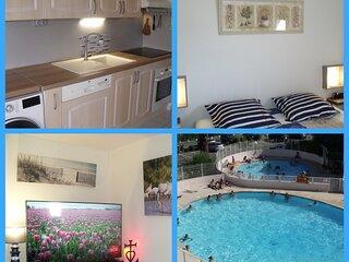 Location Confort 40M², Le Grau du Roi, Parking privé, Wifi, Piscine, Mer 300m