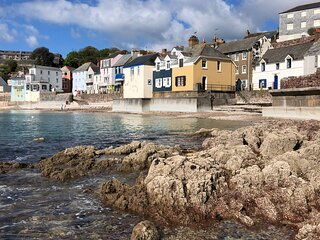 Seaside cottage in heart of picturesque village by the coast path.  Sunny patio.