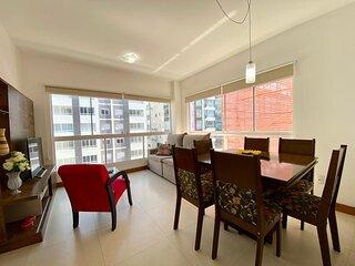 Apartamento 2 dom. a 350m do mar Ed. Silviane Gomes
