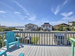 NEW! Oak Island Beach Abode: Deck + Walk to Shore!