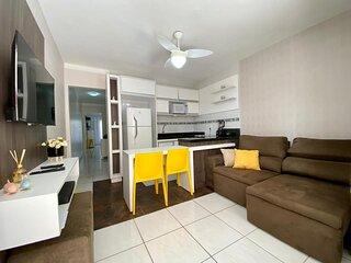 Apartamento 2 dom. uma quadra do mar - Ed. Vila Velha