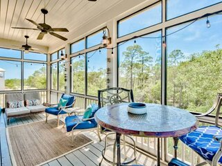 New Beach Home with Gulf Views! Steps to Heated Community Pool/Minutes to 30A's