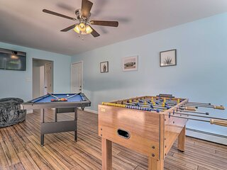 NEW! Long Pond Home: Hot Tub, Game Room, Fire Pit!