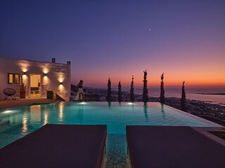 Infinity sea view hillside villa with private pool