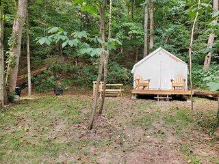 Tentrr State Park Site - WV Hawk's Nest State Park - Site F - Single Camp