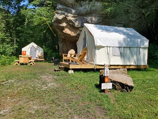 Tentrr State Park Site - WV Hawk's Nest State Park - Site A - Double Camp