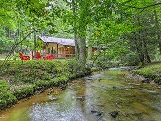 NEW! Blue Ridge 'Creek Retreat Cottage' w/ Deck!