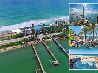 'As Good as it Gets':  The 5-Star FL Beach House ON the beach. Ocean+River+Dock!