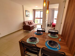 Apartamento super aconchegante em Maceió para 4 pessoas