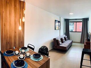 Lindo apartamento para 4 hóspedes no coração de Ponta Verde