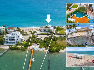 Avalon: 7BR/4BA Ocean-to-River Palace; Heated pool, hot tub, private dock, more!