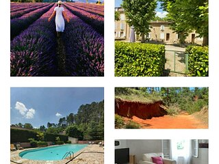 appartement en résidence avec piscine dans le Luberon au pied du colorad