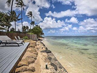 NEW! WFH in Paradise: Beachfront Hauula Getaway!