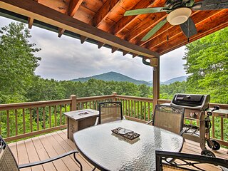 NEW! Dreamy Blue Ridge Cabin w/ Decks & Game Room!