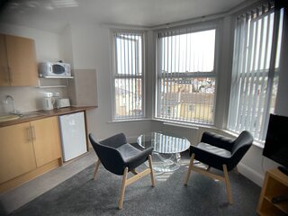 Bedford Holiday Apartments.  Studio Apt 11 (With sea view)
