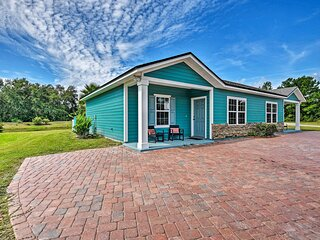 NEW! Palatka Pad w/ Patio & Grill Overlooking Pond
