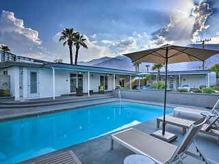 NEW! Mid-Mod Palm Springs Home: Casita + Fire Pit!