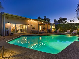 *BRAND NEW* Chic Mid Century Modern + 5 Min to OLD TOWN w/ Heated Pool