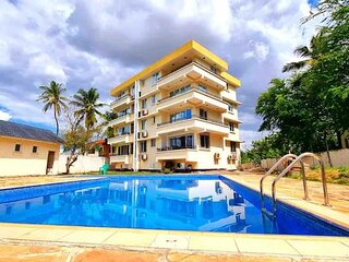 3 Bedrooms with a pool and beach view