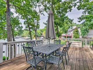 NEW! Lakefront Rocky Mount Escape w/ Dock & Grill!