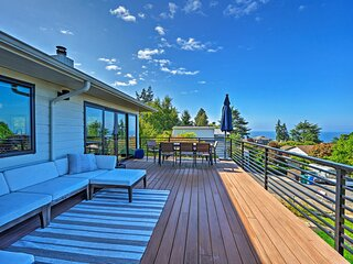 NEW! Richmond Beach Home w/ View ~1 Mile to Water!