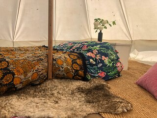 Buttercup bell tent in The Broads National Park