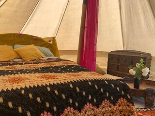 Wild Orchid bell tent in The Broads National Park