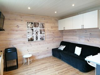 Studio spacieux pour 4, entierement refait, a cote des terrains de tennis et de