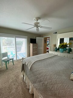 Master bedroom with view of 2nd bedroom