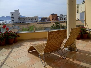 Penthouse apartment in central Porto Pollenca stunning view. Which has a lift.