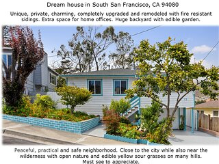 Unique turquoise house with everything brand new
