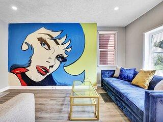 Fun Pop Art 4-Bedroom House