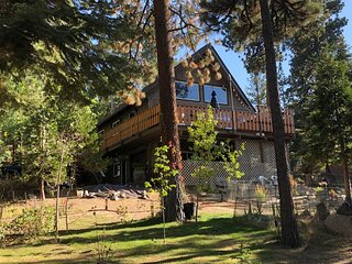 Wooded quiet & secluded Chalet, walk to lake,skiing,shopping,night life,hiking