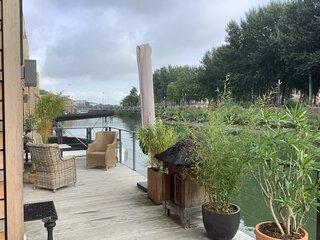 Romantic villa in tidal river