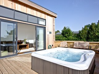 Burrington, Strawberryfield Park - A modern lodge with countryside views and bub