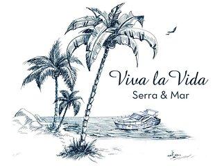 Vivalavida_Serraemar, Cercada de mata nativa e frente ao mar.