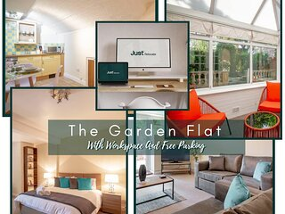 Just Relocate - The Garden Flat With Workspace And Free Parking