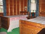 Bedroom 3, first floor, twin beds.