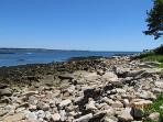 Rocky beachfront