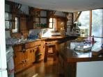 Craftsman details in sunlit kitchen.