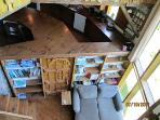 View from loft to den.