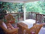 The Boat House, Front Porch, Vacation Rental in Guerneville